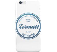 Zermatt Ski Resort Switzerland iPhone Case/Skin