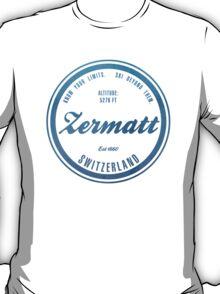 Zermatt Ski Resort Switzerland T-Shirt