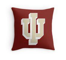 Logo of Indiana University for DarkColors Throw Pillow