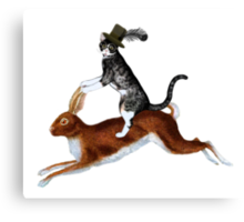 Cat Hare Canvas Print