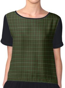 01176 Iguana Fashion Tartan  Chiffon Top