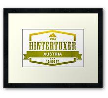 Hintertuxer Ski Resort Austria Framed Print