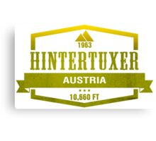 Hintertuxer Ski Resort Austria Canvas Print