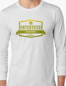 Hintertuxer Ski Resort Austria Long Sleeve T-Shirt