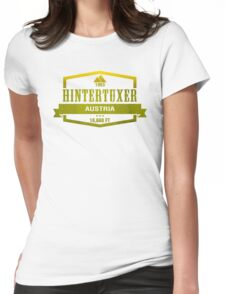 Hintertuxer Ski Resort Austria Womens Fitted T-Shirt