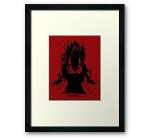 Angry Saiyan Framed Print