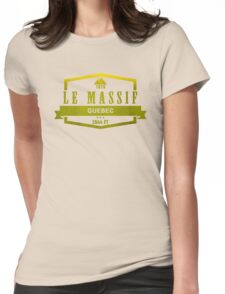 Le Massif Ski Resort Quebec Womens Fitted T-Shirt