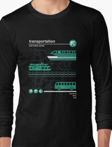 Monorail, Bus and Ferry Long Sleeve T-Shirt