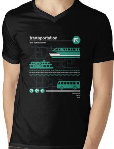 Monorail, Bus and Ferry Mens V-Neck T-Shirt