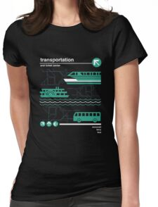 Monorail, Bus and Ferry Womens Fitted T-Shirt