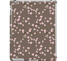 Japanese Pink Cherry Blossom Branches on Taupe iPad Case/Skin