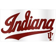 Indiana Hoosiers Logo  for Light Colors Poster