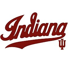 Indiana Hoosiers Logo  for Light Colors Photographic Print