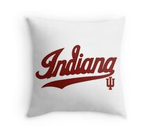 Indiana Hoosiers Logo  for Light Colors Throw Pillow