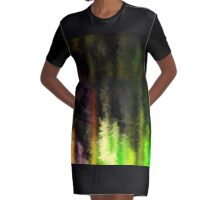 Neon painted goods Graphic T-Shirt Dress