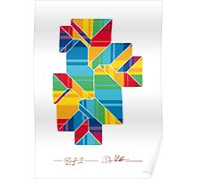 Geometric Art - Colorful Roof 1 Poster