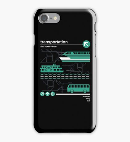 Monorail, Bus and Ferry iPhone Case/Skin