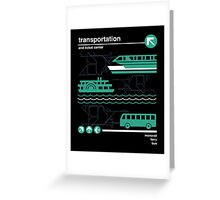 Monorail, Bus and Ferry Greeting Card