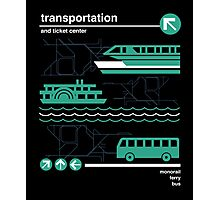 Monorail, Bus and Ferry Photographic Print