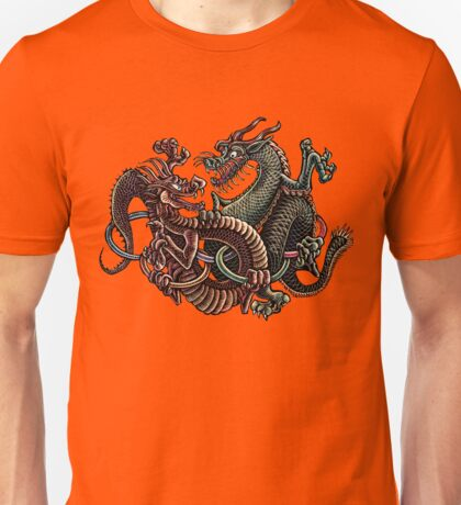 Dragons Fighting in Rings Unisex T-Shirt