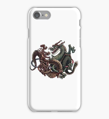 Dragons Fighting in Rings iPhone Case/Skin