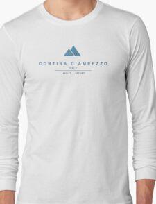 Cortina d'Ampezzo Ski Resorts Italy Long Sleeve T-Shirt