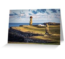 Mystical Moai - Easter Island, Chile Greeting Card