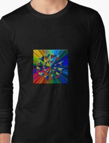 Psychedelic Triangles Long Sleeve T-Shirt