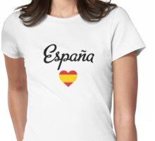 España heart Womens Fitted T-Shirt