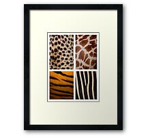 Textures of the Wild Framed Print