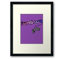 PurplePlayz - Controller Framed Print