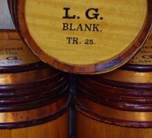 The Three Barrels Sticker