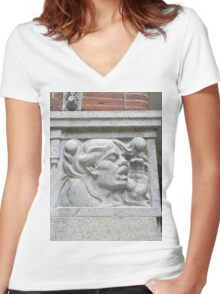 Cornerstone Sculpture Women's Fitted V-Neck T-Shirt