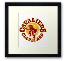 Original Vintage Cavaliers Art  (2016 World Champions) #believeland #theland #cavs Framed Print