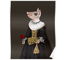The Queen of Bling - Anthropomorphic Pig Composite Poster