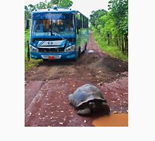 Ecuador. Galapagos Islands. A Giant Tortoise and a Bus. Unisex T-Shirt