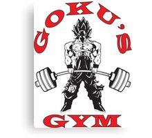 Goku's Gym (Black and Red Logo) Canvas Print