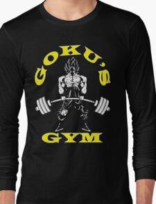 Goku's Gym (White and Yellow Logo) Long Sleeve T-Shirt
