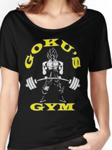 Goku's Gym (White and Yellow Logo) Women's Relaxed Fit T-Shirt