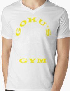 Goku's Gym (White and Yellow Logo) Mens V-Neck T-Shirt