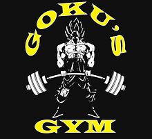 Goku's Gym (White and Yellow Logo) Unisex T-Shirt