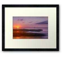 Clam Tree Sunset, Cape Cod Framed Print