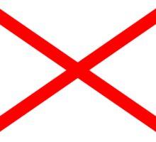 Letter V Flag Sticker