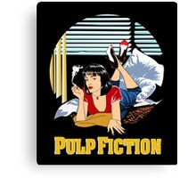 Pulp Fiction - Mia Circular Variant Canvas Print