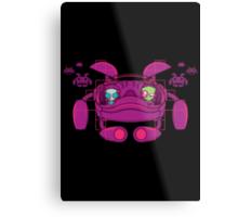 Space Zimvader Metal Print