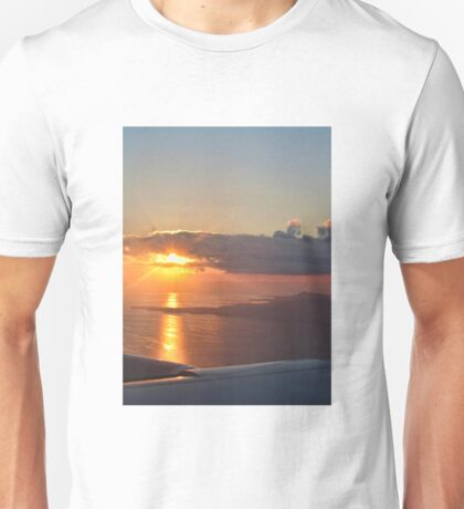 Sunset from a plane Unisex T-Shirt