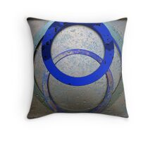 Three Ring Blue Throw Pillow