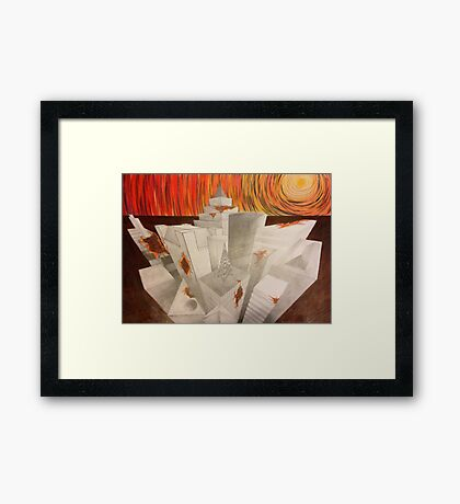 Apocalypse in the City Framed Print