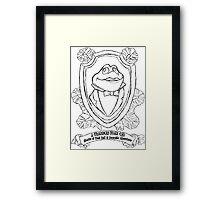 Mr. Toad Shield Framed Print