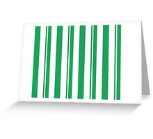 Dapper Dans - Green Greeting Card